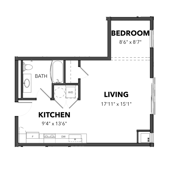 Bakery Living Studio 1, apartments in Pittsburgh, Pennsylvania