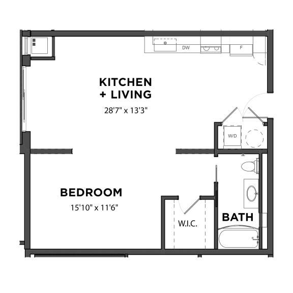 Bakery Living Studio 3, apartments in Pittsburgh, Pennsylvania