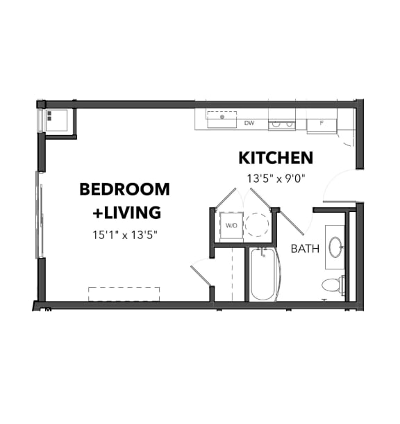 Floor Plan  Bakery Living Micro 2, apartments in Pittsburgh, Pennsylvania