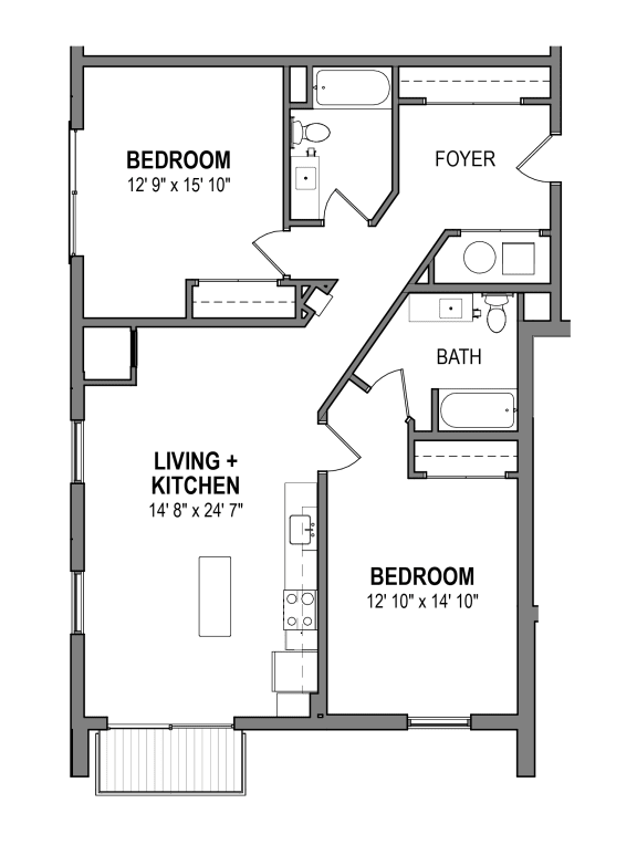 FloorPlans-Foundry-Iron-R The Foundry at 41st Apartments, Lawrenceville, Pittsburgh, PA