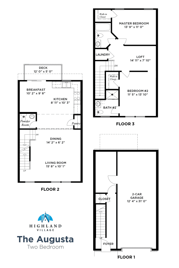 The Augusta 2 Bedroom w Loft Ross Township, Pittsburgh, PA
