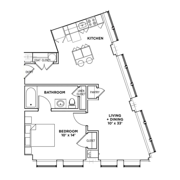 Floor Plan  Walnut on Highland Suite C