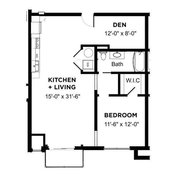 Floor Plan  Walnut on Highland Corporate A2