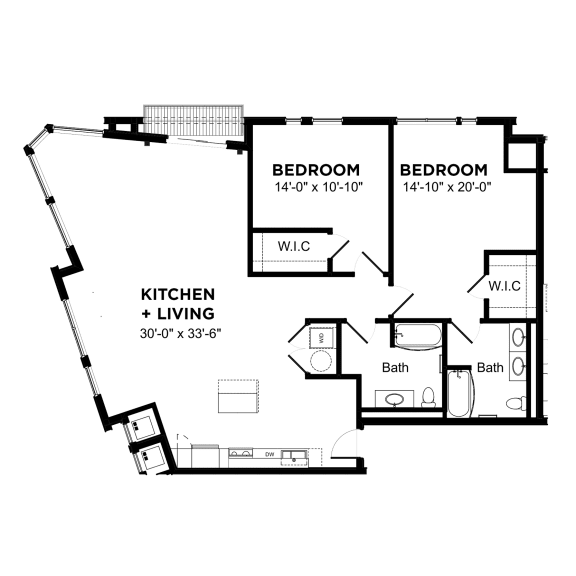 Floor Plan  Walnut on Highland Corporate B1