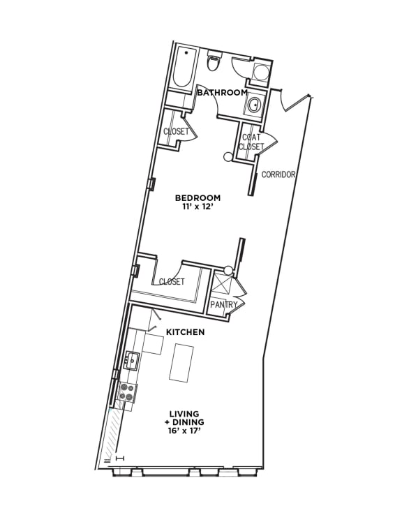 Floor Plan  Walnut on Highland