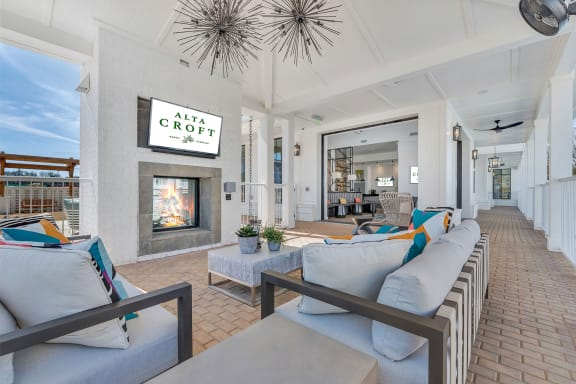 Community Clubhouse With Tv at Alta Croft, Charlotte, 28269