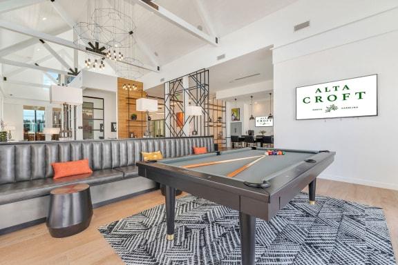 Billiards Table In Clubhouse at Alta Croft, Charlotte, North Carolina