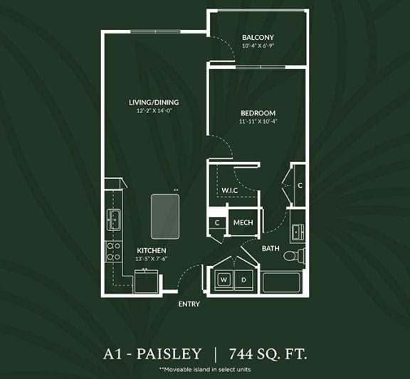 Floor Plan  A1 PAISLEY Floor Plan at Alta Croft, North Carolina