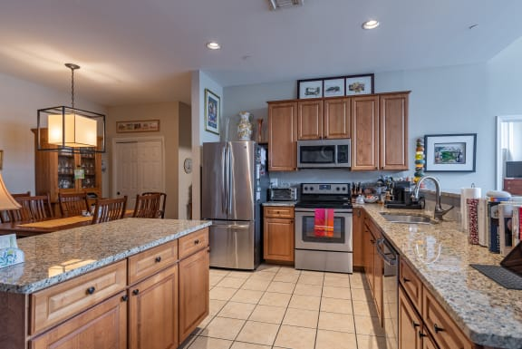 Fully Furnished Kitchen With Stainless Steel Appliances at Renaissance at the Power Building, Cincinnati, OH, 45202