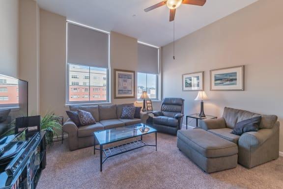 Spacious Living Room at Renaissance at the Power Building, Cincinnati, 45202
