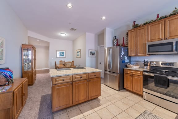 Fully Furnished Kitchen With Stainless Steel Appliances at Renaissance at the Power Building, Ohio