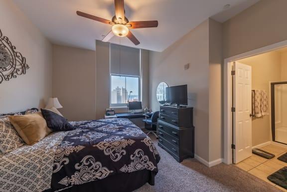 Large Bedroom En-Suite Bathroom at Renaissance at the Power Building, Cincinnati, 45202