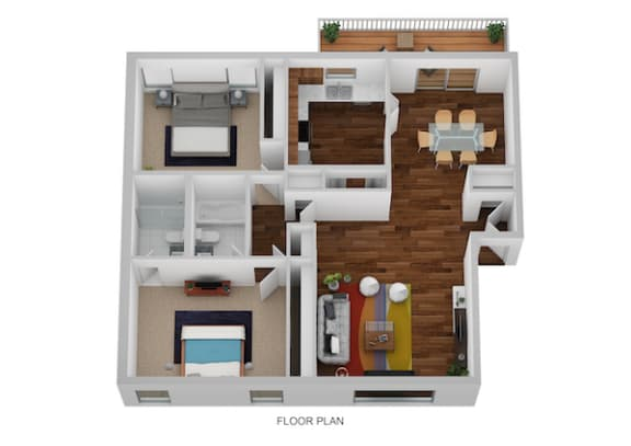James Floor Plan at Indian Creek Apartments, Ohio