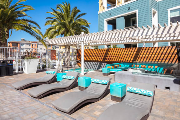Saltwater Pool, Spa, And Sundeck at Blu Harbor by Windsor, Redwood City, CA