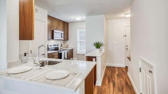 Refined kitchen at Windsor Ridge at Westborough, Westborough, MA