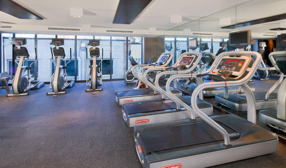 Cardio equipment in fitness center at 7770 Norfolk, Bethesda, MD