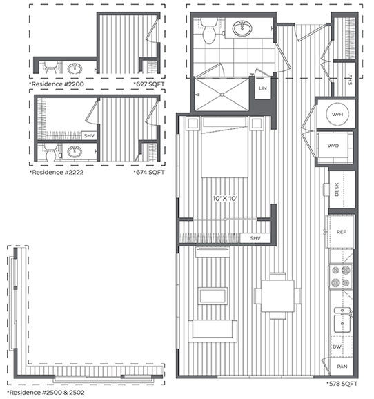 Floor Plan  1C Floor Plan at Platt Park by Windsor, Denver, CO, 80210