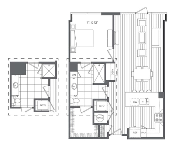 Floor Plan  1M Floor Plan at Platt Park by Windsor, Denver
