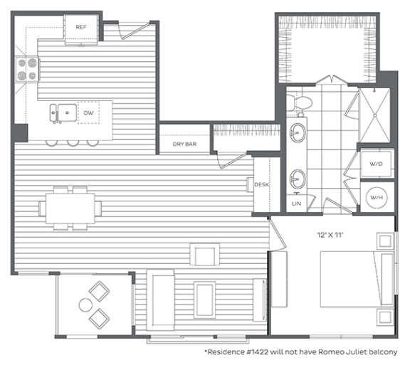 Floor Plan  1O Floor Plan at Platt Park by Windsor, Colorado, 80210