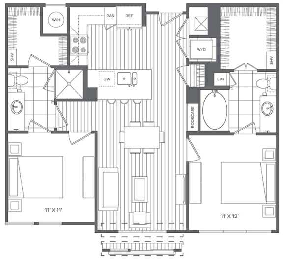 Floor Plan  2B Floor Plan at Platt Park by Windsor, Colorado, 80210
