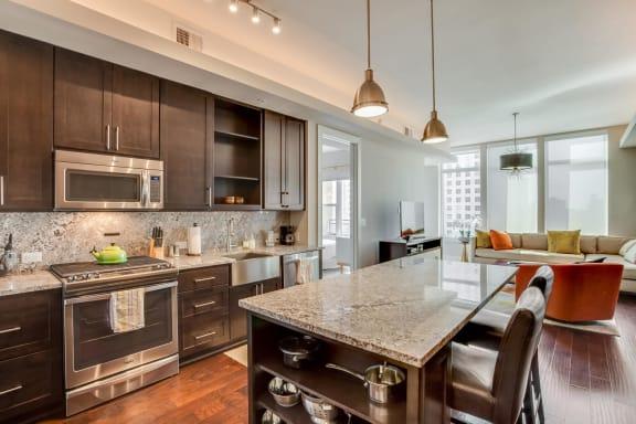Granite Countertops and Backsplash at The Jordan by Windsor, Dallas, 75201