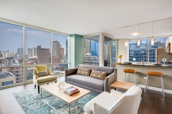 Floor-To-Ceiling Windows at Flair Tower, Chicago, IL