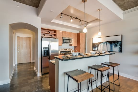 Open Floor Plans with Breakfast Bars at Crescent at Fells Point by Windsor, Baltimore, MD
