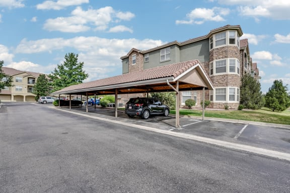 Covered parking at Windsor at Meridian, Englewood, Colorado