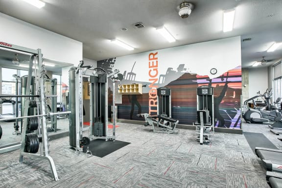24-Hour State-of-the-art Fitness Center at Windsor at Broadway Station, Denver, Colorado