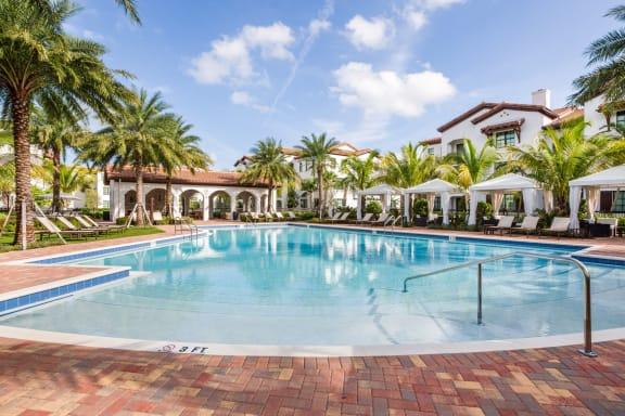 Blue Cool Swimming Pool at Mirador at Doral by Windsor, Doral, Florida