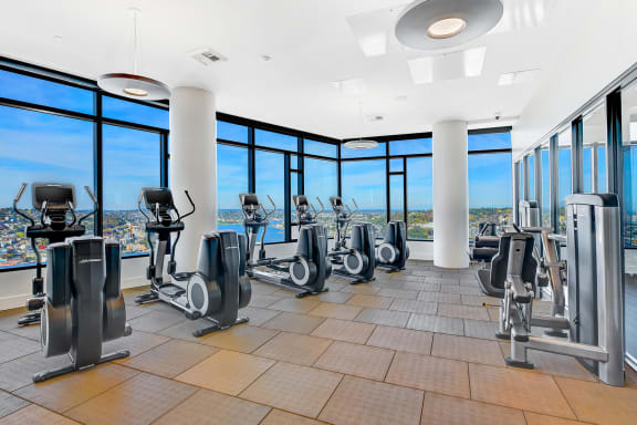 Cardio and Strength Equipment in the Fitness Center at Cirrus, Seattle, Washington