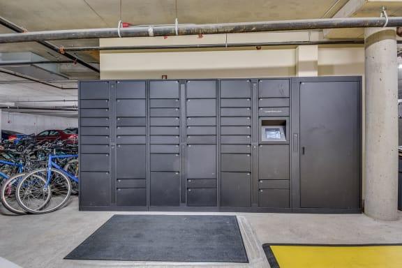Amazon Lockers at Tera Apartments, 528 Central Way, WA