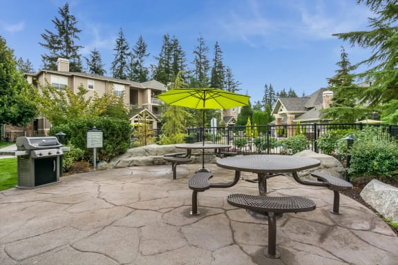 Picnic and BBQ Area at The Estates at Cougar Mountain, 98027, WA