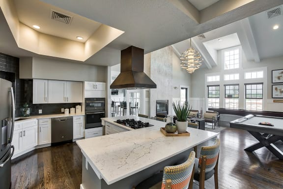 Large demo kitchen at Windsor at Meridian, 9875 Jefferson Parkway, 80112