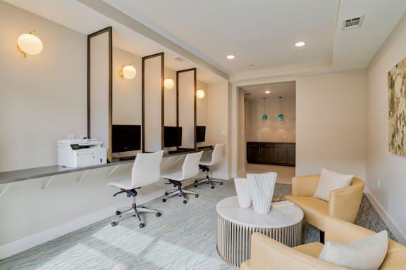 Cyber Lounge with PCs at Windsor Old Fourth Ward, Atlanta, GA