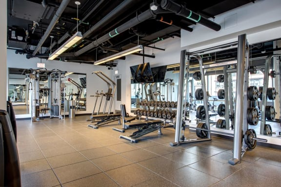 Fitness center at 640 North Wells, Chicago, Illinois