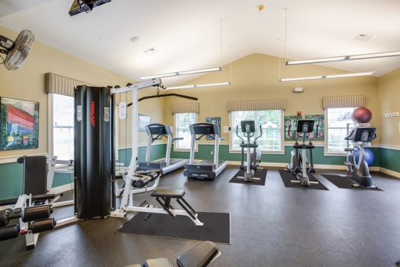 Fully-Equipped Fitness Center at Windsor Ridge at Westborough, 01581, MA