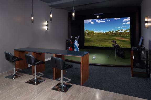 Virtual Golf Simulator at 1000 Speer by Windsor, 1000 Speer Blvd., CO
