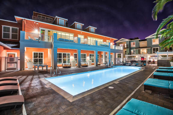 Salt Water Pool at Blu Harbor by Windsor, Redwood City, California