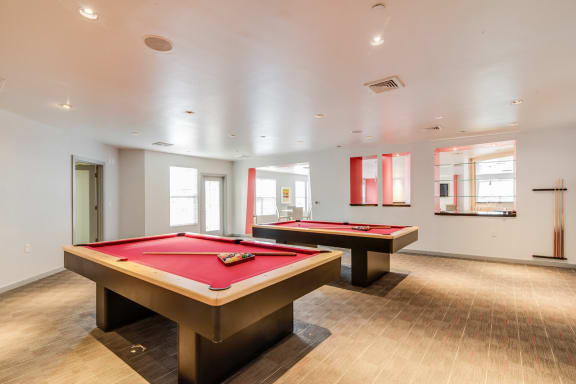 Game Room with Billiards Tables at Windsor at Contee Crossing, Laurel, Maryland