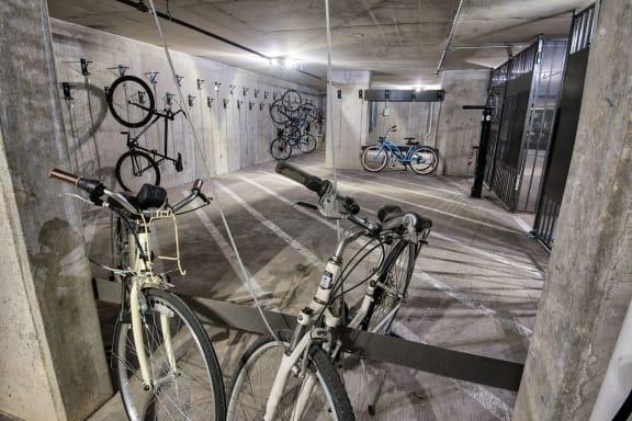 Covered bike storage at Midtown Houston by Windsor, Houston, Texas