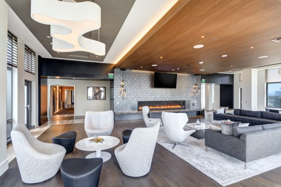 Clubroom with a Flat Screen Television and WiFi at Stratus, 820 Lenora St., WA