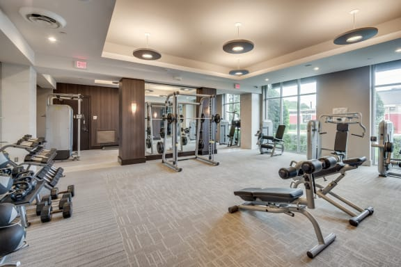 Expansive Fitness Center at Windsor at West University, 2630 Bissonnet Street, TX