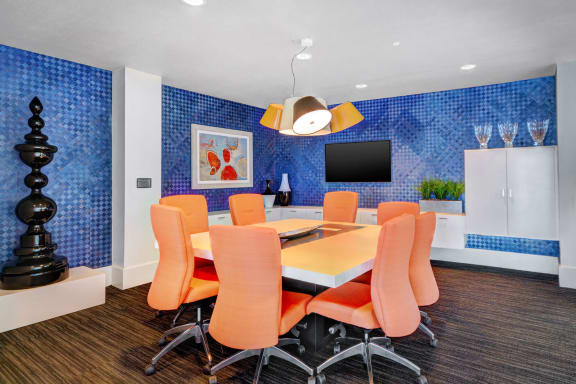 Business Center with WiFi and Sound System at Boardwalk by Windsor, Huntington Beach, CA