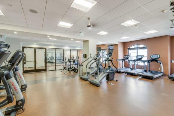 Cardio Equipment in Fitness Center at The Manhattan, 1801 Bassett Street, CO
