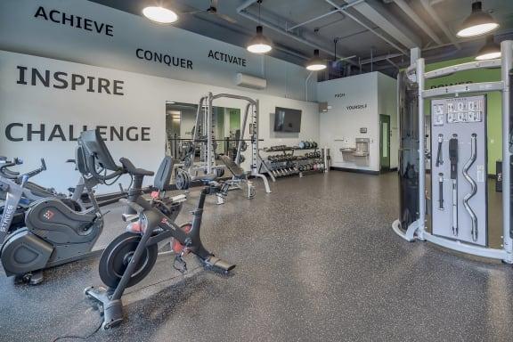 Peloton Bikes in Fitness Center at Platform 14, Hillsboro, OR