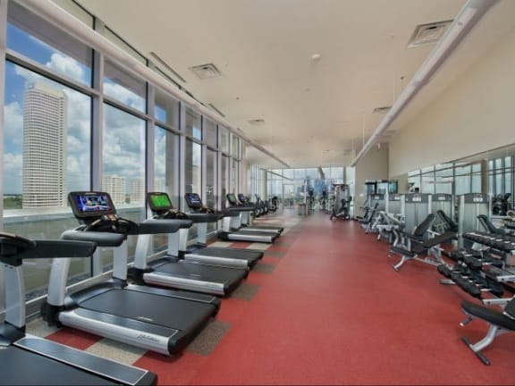 Fitness Center with Peloton Spin Room at Windsor CityLine, 75082,TX