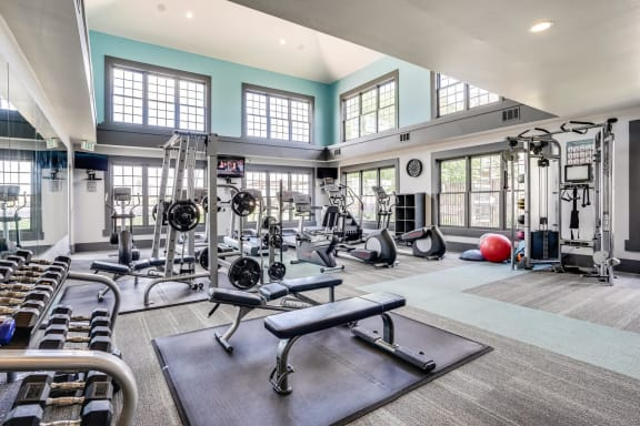 State-of-the-Art, Two Floor Fitness Center at Windsor at Meridian, Colorado, 80112