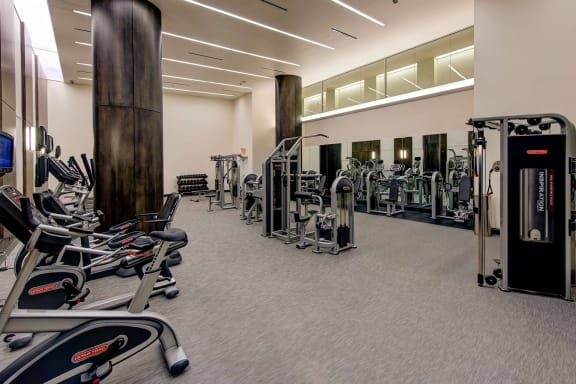 Fitness center at The Woodley, Washington, DC 20008