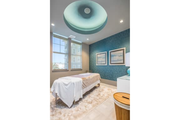 Spa with private treatment rooms at Blu Harbor by Windsor, Redwood City, CA
